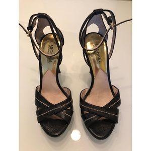 Michael Kors Original Black High Heel Sandals